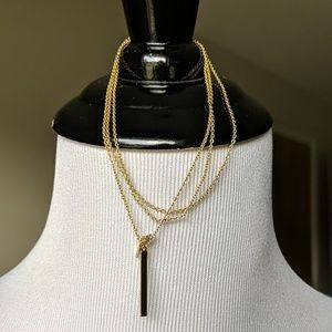Stella & Dot Jewelry - Stella & Dot triangle lariat in Gold